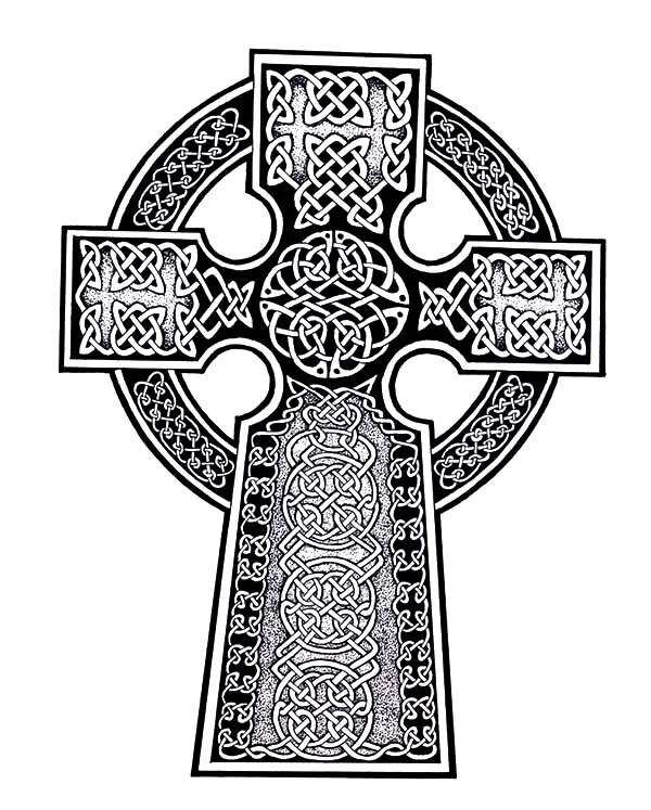 Abstract Cross Coloring Pages : Free coloring pages of celtic cross