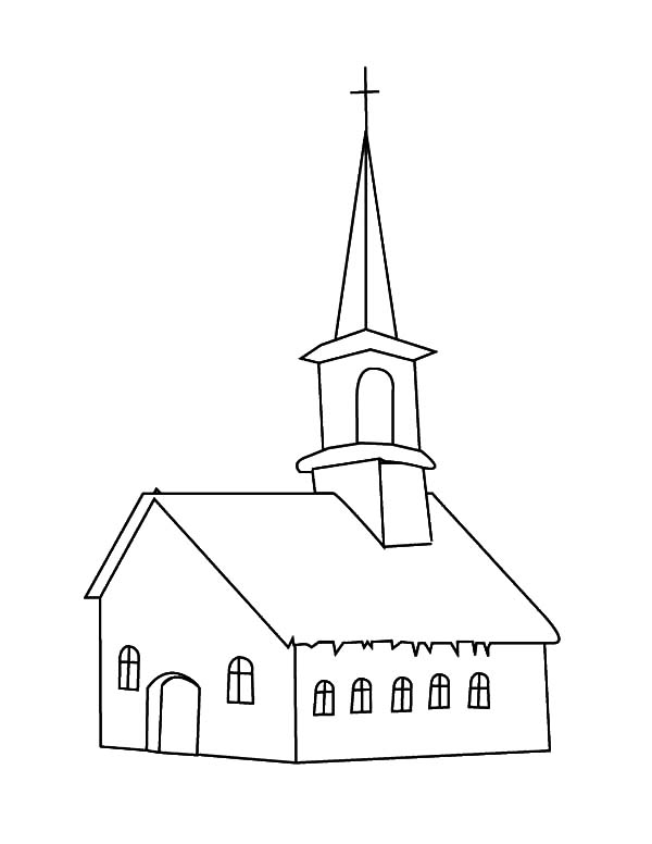 building church coloring pages