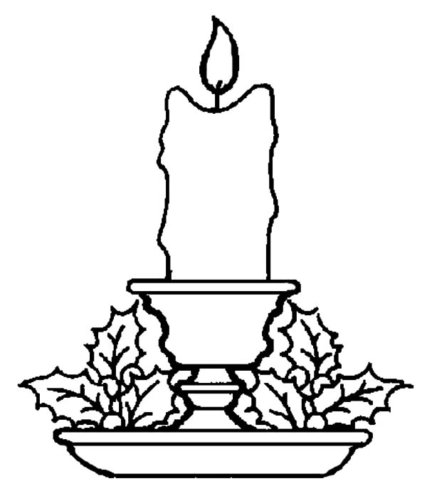Candle, : Candle Coloring Pages