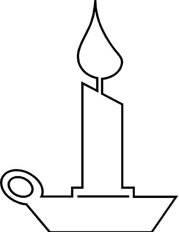 Candle, : Candle Outline Coloring Pages