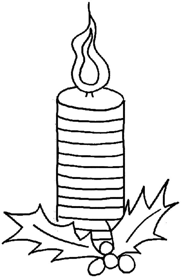 Candle, : Candle Slice Coloring Pages