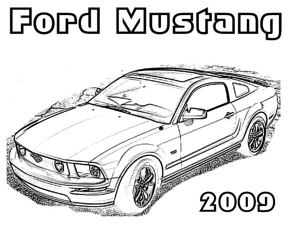 Car Mustang, : Car Mustang Coloring Pages for Kids