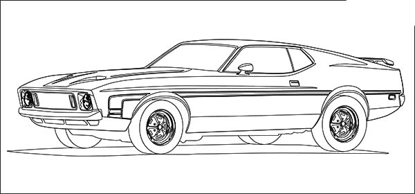 Car Mustang, : Car Mustang Fast Back Coloring Pages