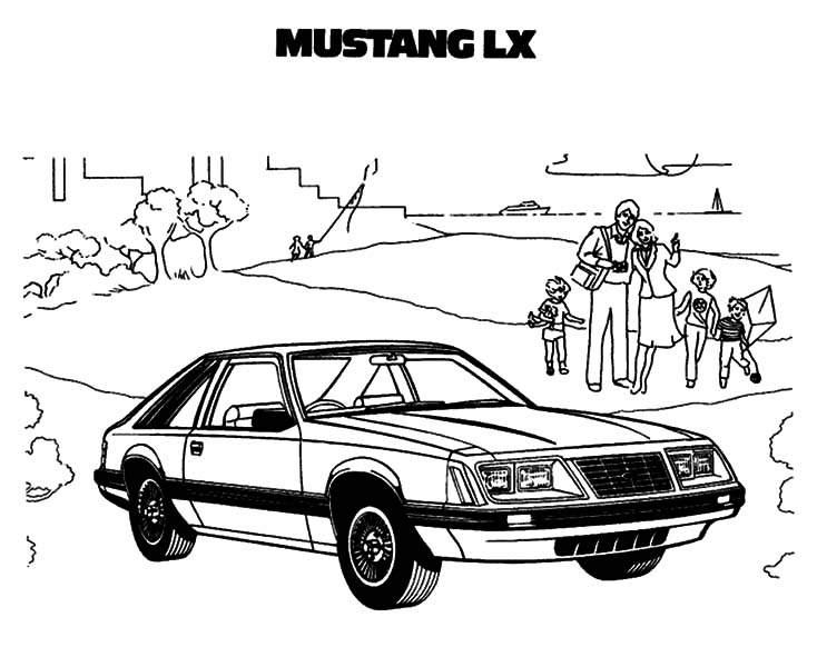Car Mustang, : Car Mustang LX Coloring Pages