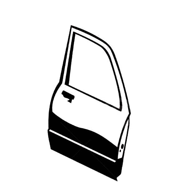 Car Parts, : Car Parts Side Door Coloring Pages