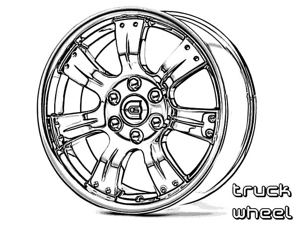 Car Parts, : Car Parts Wheel Truck Coloring Pages