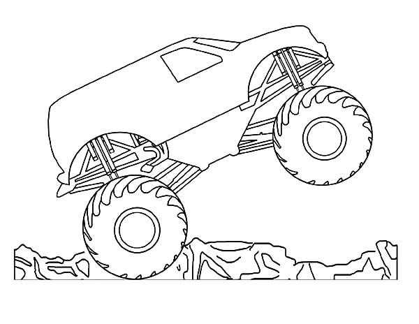 Car Tire, : Car Tire Monster Trucks Jumping Coloring Pages