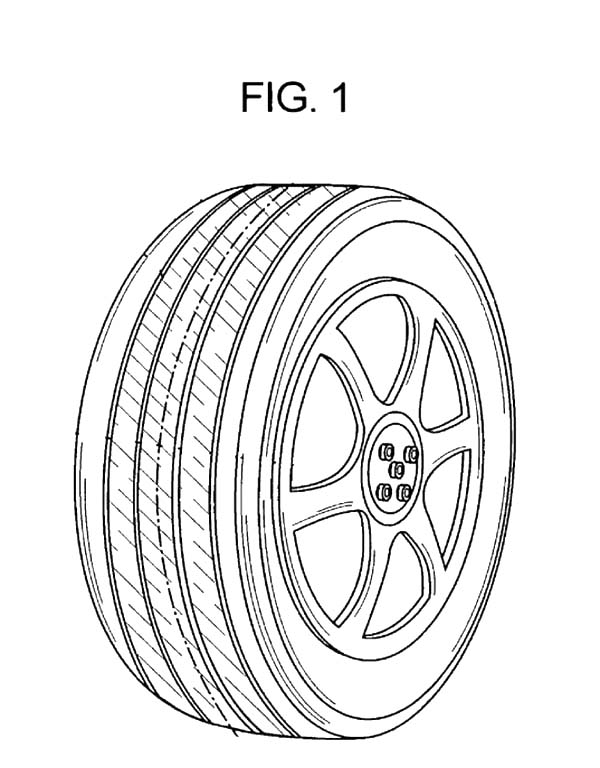 Car Tire, : Car Tire Picture Coloring Pages
