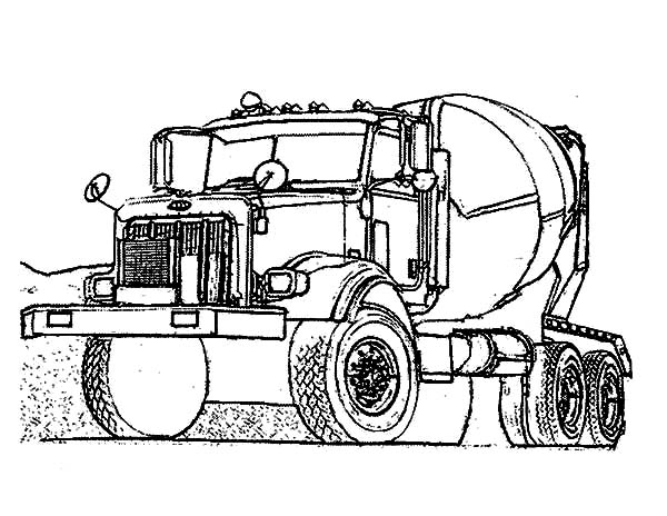 Car Transporter, : Car Transporter Construction Vehicle Coloring Pages