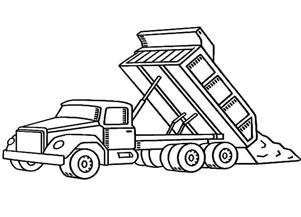 Car Transporter Dump Truck Coloring Pages | Best Place to Color