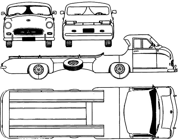 Car Transporter, : Car Transporter Layout Coloring Pages