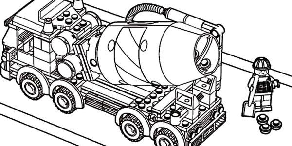 Car Transporter, : Car Transporter Lego Cement Truck Coloring Pages