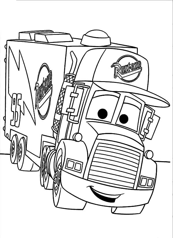 Car Transporter Mack The Truck Coloring Pages