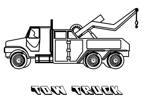 Car Transporter, : Car Transporter Tow Truck Coloring Pages