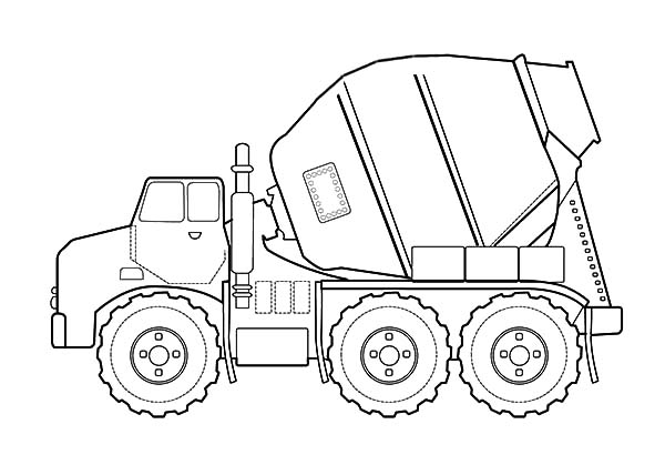 Car Transporter, : Car Transporter for Construction Working Coloring Pages