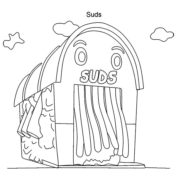 Car Wash, : Car Wash Building Coloring Pages