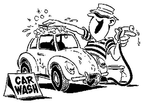 Car Wash, : Car Wash Business Coloring Pages
