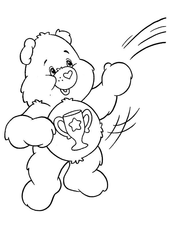 Care Bears Catching Heart Shaped