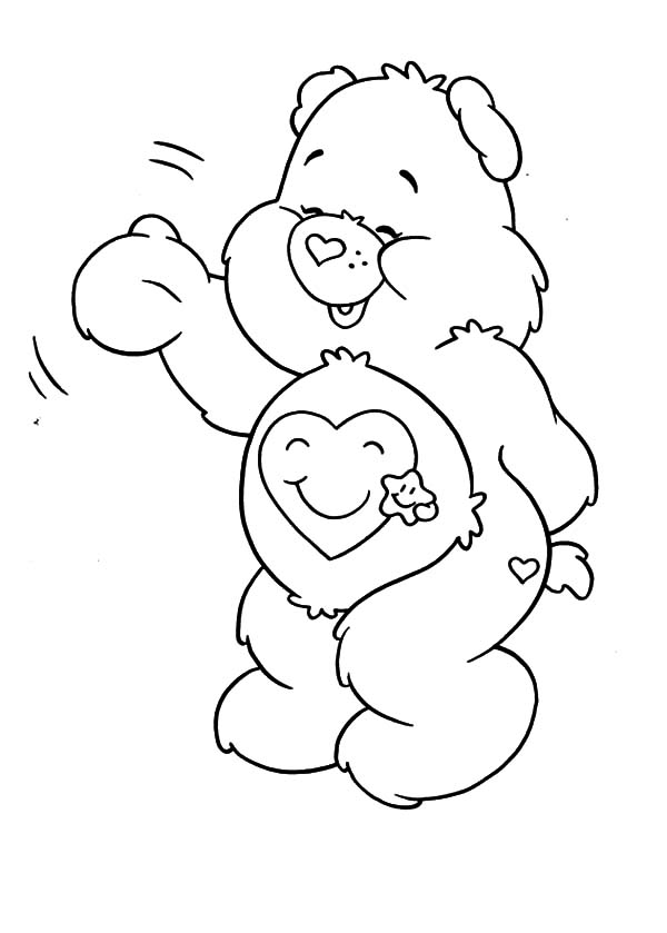 Care bears coloring pages for kids