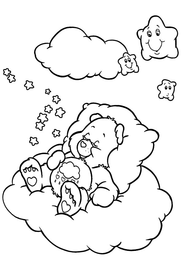 Care Bears Fall Asleep Coloring Pages