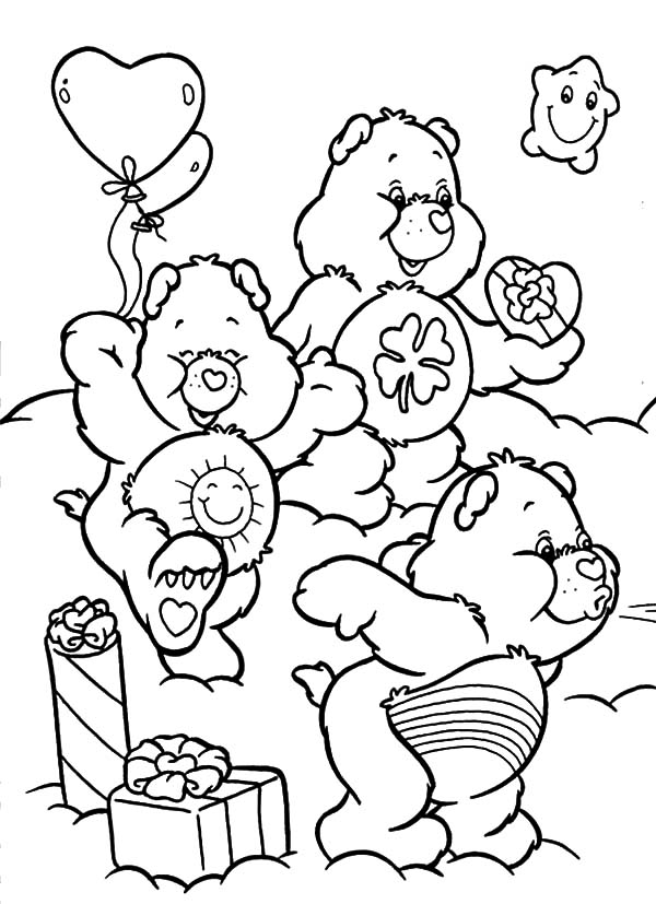 Care, : Care Bears Fun Quality Time Coloring Pages