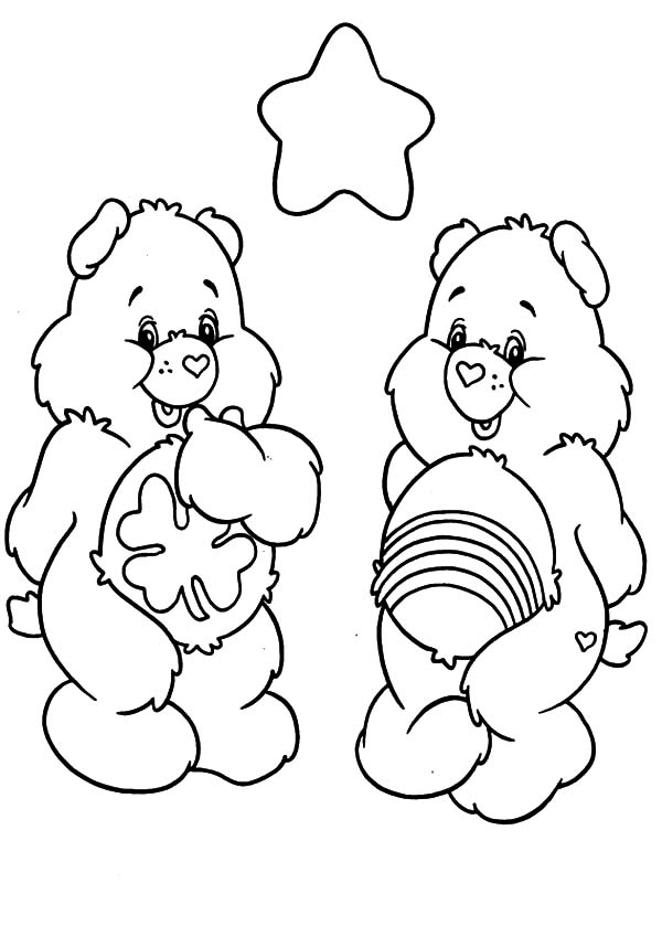 Care, : Care Bears Going on a Date Coloring Pages
