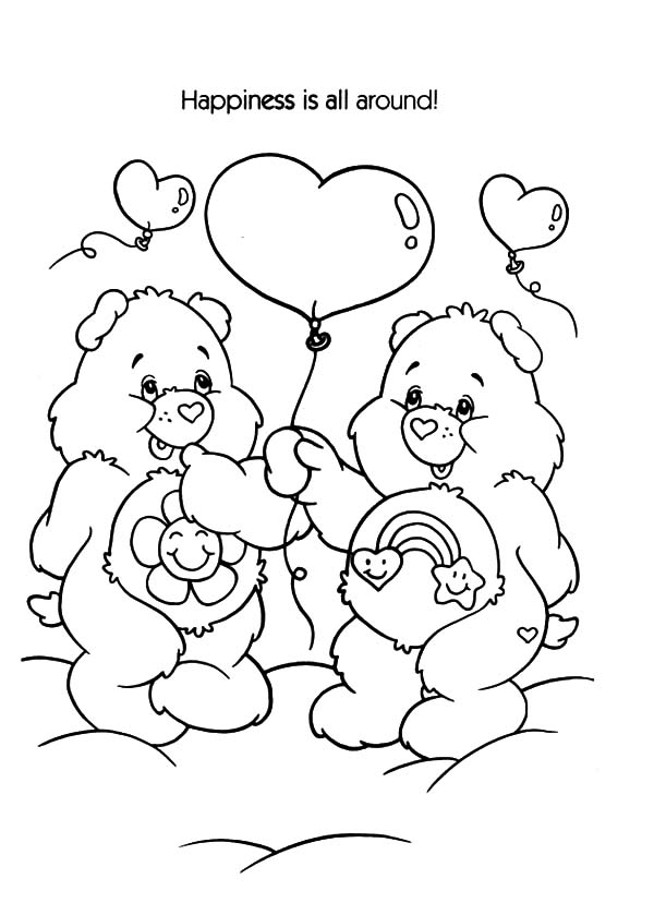 Care, : Care Bears Happiness is All Around Coloring Pages
