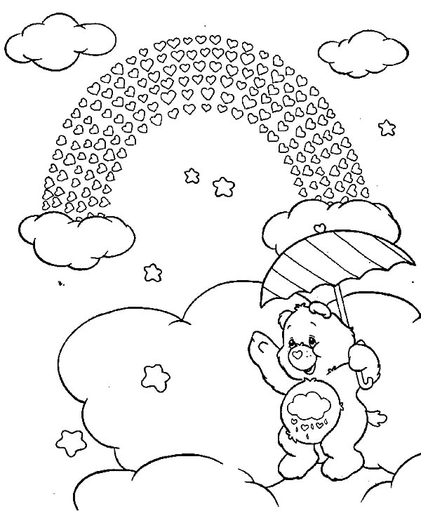 Care, : Care Bears Rainbow of Love Coloring Pages