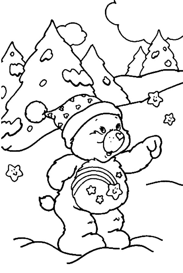 Care, : Care Bears Winter Time Coloring Pages