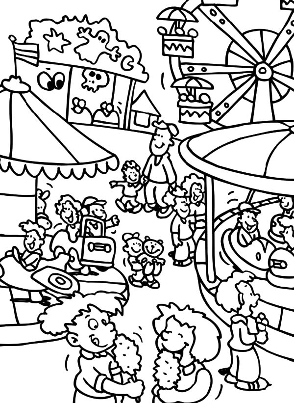 Carnival, : Carnival Activity Coloring Pages
