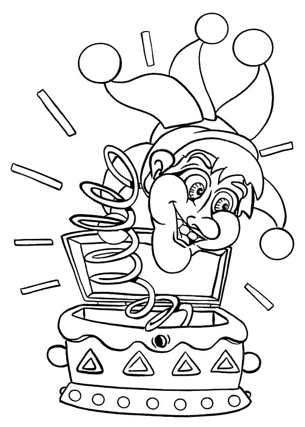 Carnival, : Carnival Clown Jumping Jack Coloring Pages