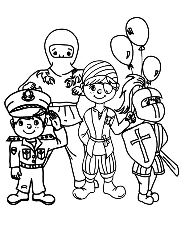 Carnival, : Carnival Costume Show Coloring Pages