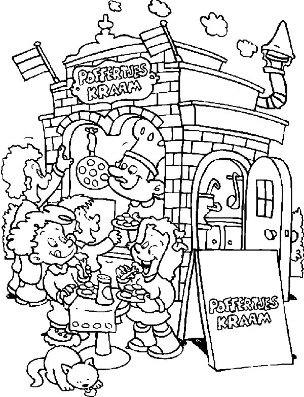 Carnival, : Carnival Delicious Cookies Coloring Pages