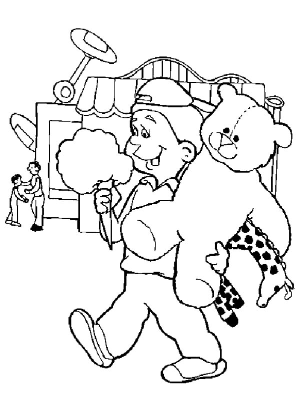 Carnival Eating Cotton Candy Coloring Pages Best Place to Color