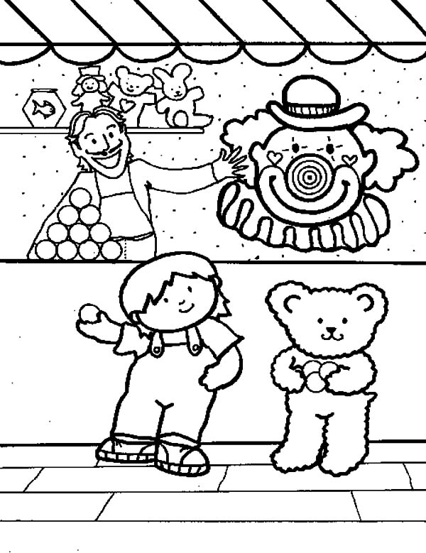 Carnival Games Coloring Pages | Best Place to Color