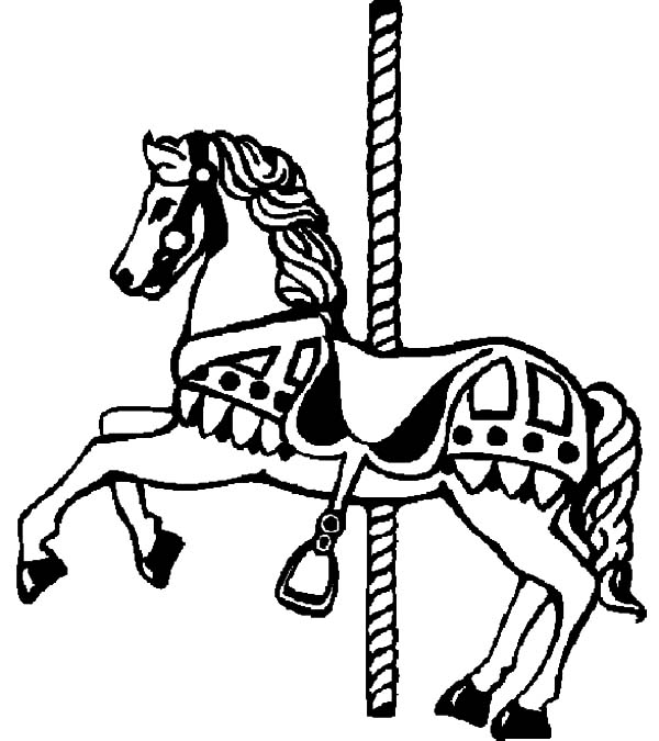 Carousel Horse, : Carousel Horse Picture Coloring Pages
