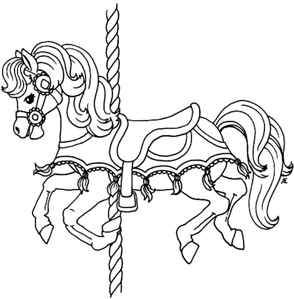 Carousel pony horse coloring pages best place to color for Carousel horse coloring page