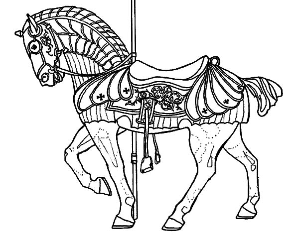 Fairy carousel horse coloring pages best place to color for Carousel horse coloring page