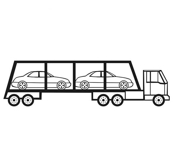 Car Transporter, : Cars Carrier Car Transporter Coloring Pages