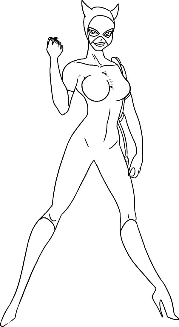 Catwoman, : Cat Women Self Confidence Coloring Pages