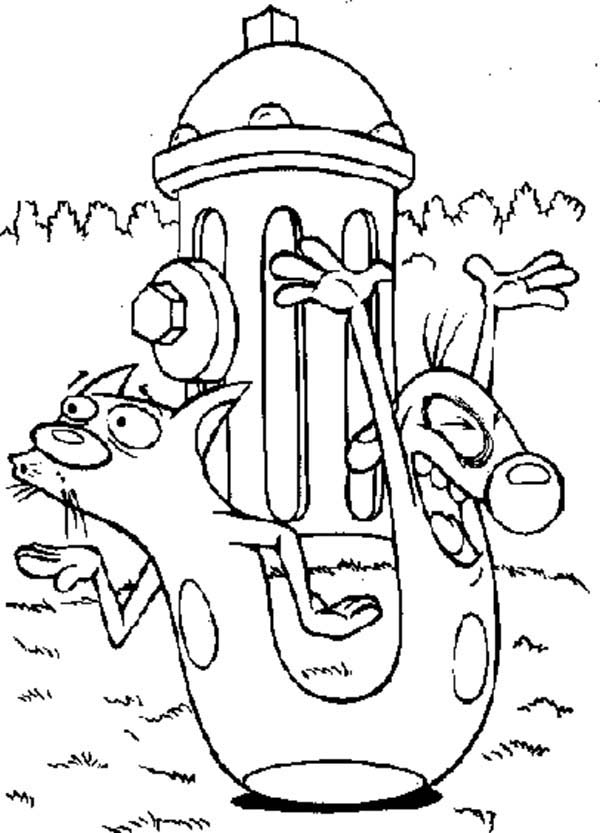 Catdog, : Catdog Dog is so Happy Coloring Pages