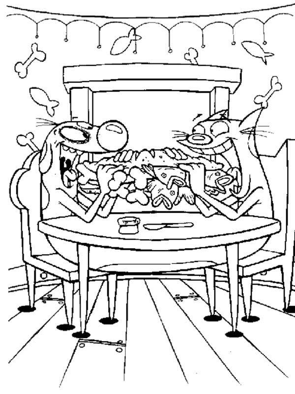 Catdog, : Catdog Have a Breakfast Coloring Pages