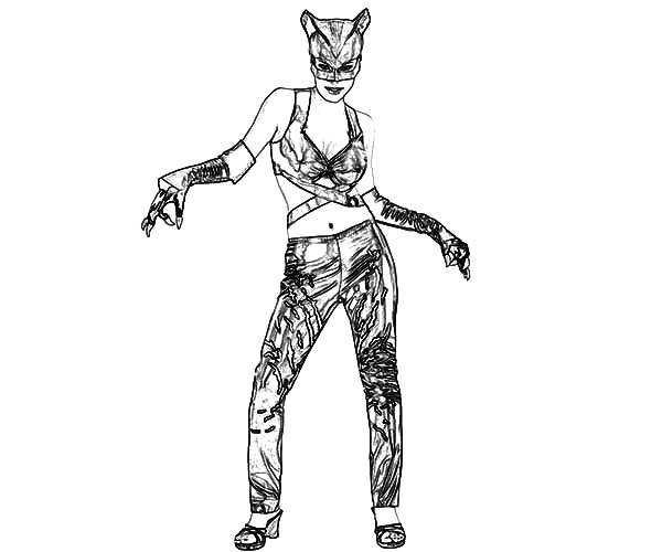 Catwoman Coloring Pages Catwoman Coloring Pages Superhero