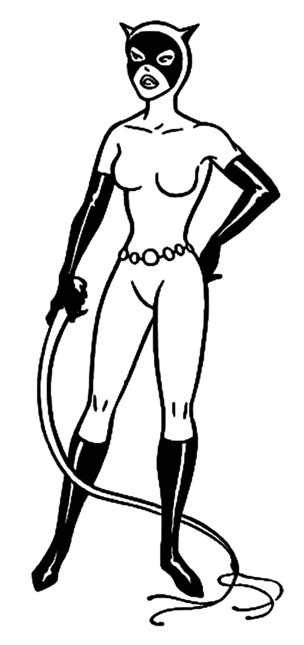Catwomen Colouring Pages