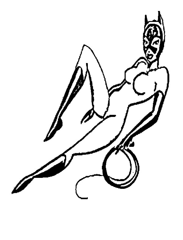 Catwoman, : Catwoman Sexy Pose Coloring Pages