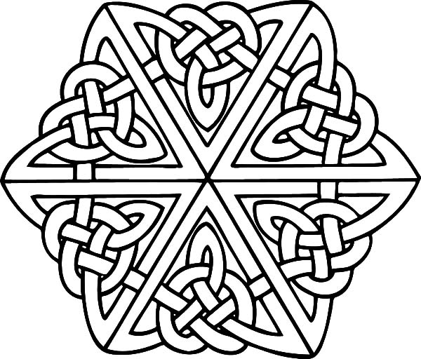 celtic cross coloring pages - Celtic Coloring Pages