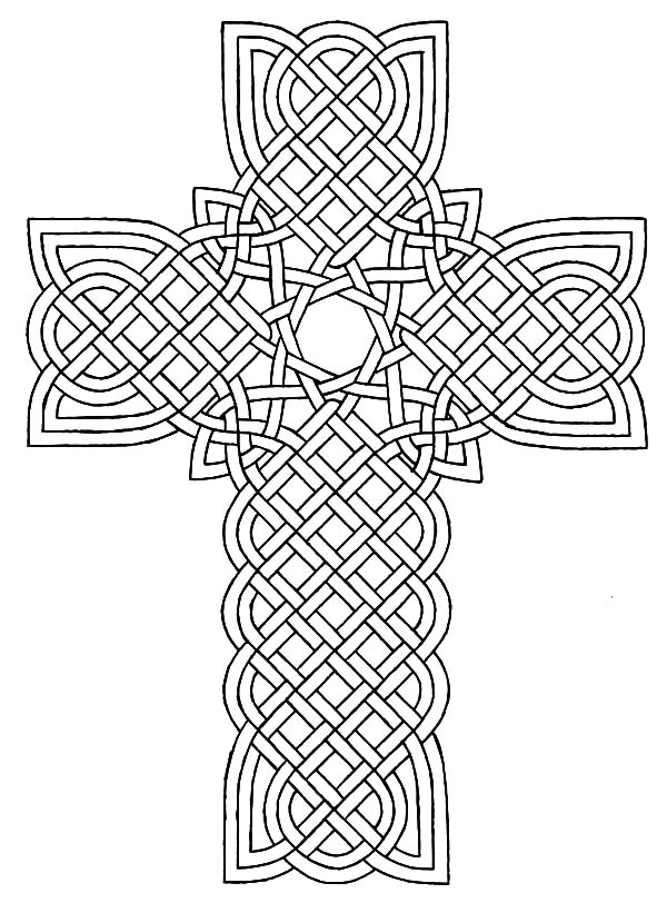 Celtic Cross, : Celtic Cross Design Coloring Pages