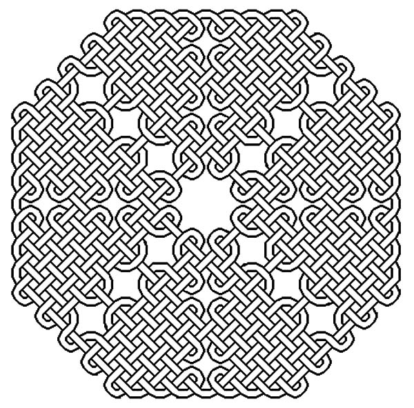Celtic Cross, : Celtic Cross Sophisticated Knot Coloring Pages