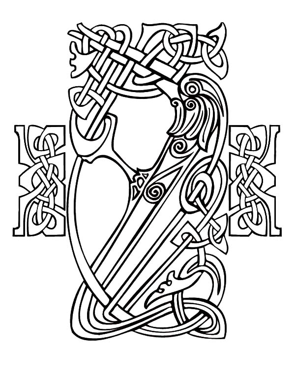 Celtic Cross, : Celtic Cross in Ireland Coloring Pages