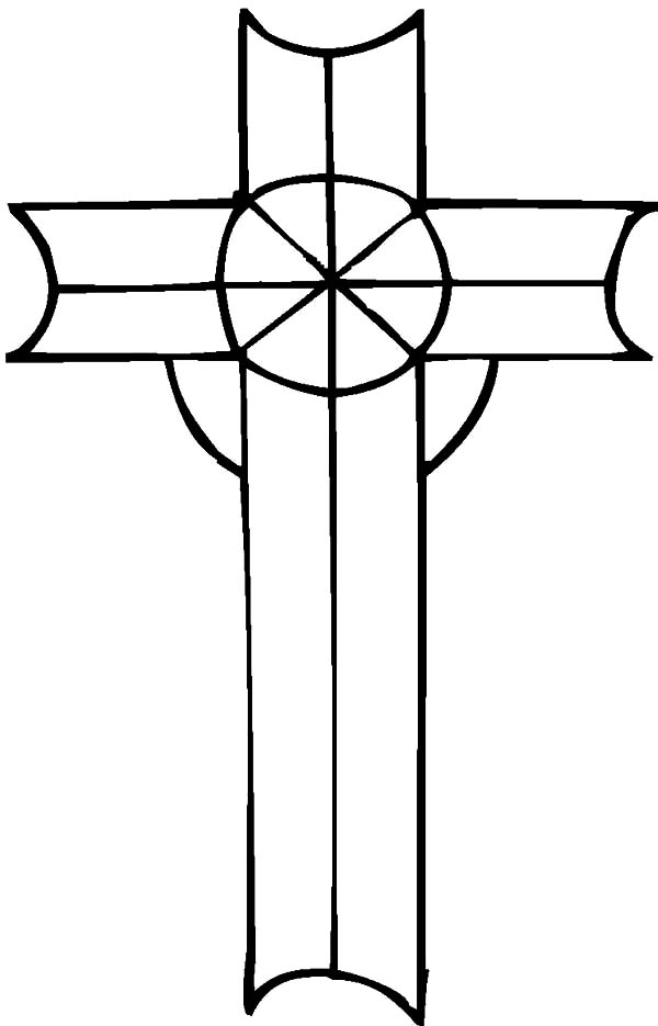 Celtic Cross, : Celtic Designed Cross Coloring Pages
